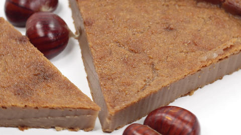 chestnut flour cake with fruit Live Action