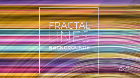 Fractal lines backgrounds Motion Graphics Template