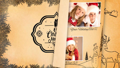 Christmas Memories Album After Effects Template
