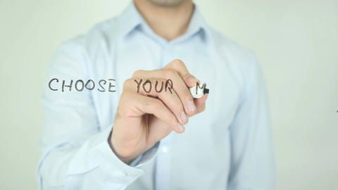 Choose Your Marketing Strategy, Writing On Transparent Screen Footage