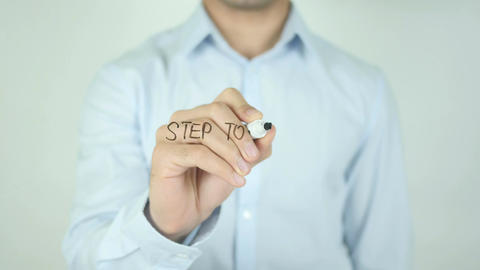 Step to Your Happiness, Writing On Transparent Screen Footage