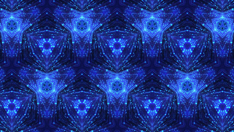 Glowing Dots Kaleidoscope Background Stock Video Footage