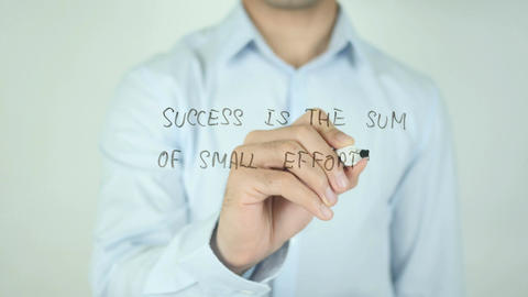 Success is the Sum of Small Efforts Repeated Day by Day Stock Video Footage