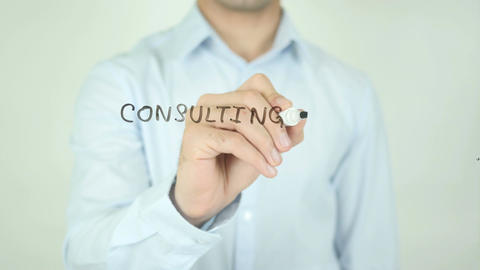 consulting for Your Business, Writing On Transparent Screen Footage