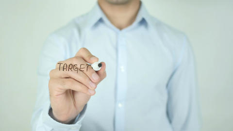 Target your customers, Writing On Transparent Screen Live Action