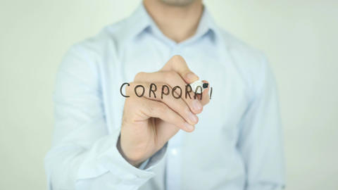Corporate Solutions, Writing On Transparent Screen Footage