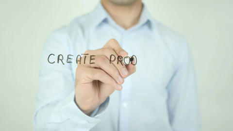Create Product That Poeple Love, Writing On Transparent Screen Live Action