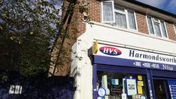 Harmondsworth village London UK 2 Footage