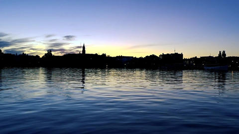 Summer evening at Savonlinna (Finland) Footage