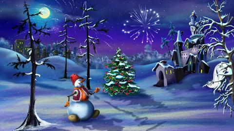 Christmas Fantasy with Magic Unicorn Animation
