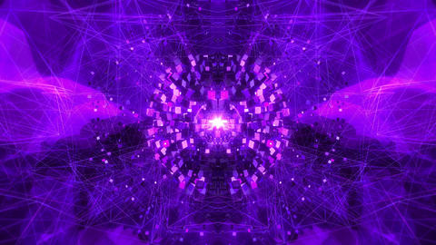 SHA Cube Abstract World Violet Animation