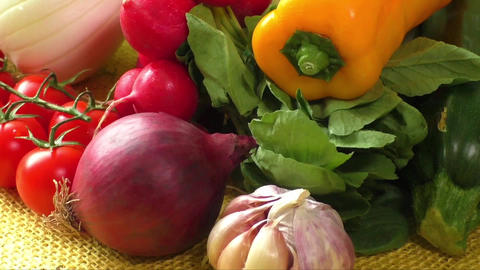 Different sorts of vegetables, selective focus ライブ動画