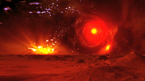 Rotating Star Tunnel In The Sky Alien Planet Animation