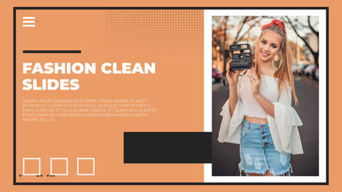 Fashion Clean Slides After Effects Template