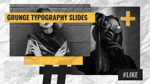 Grunge Typography Slides After Effects Template