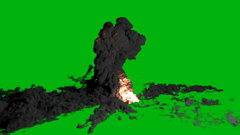 Close-up of explosion and fire. Explosion with thick smoke, giant real gas explosion, fire and bomb 動畫