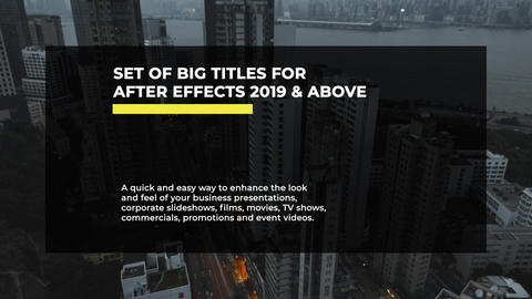 Big Titles After Effects Template