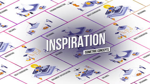 Inspiration - Isometric Concept After Effects Template