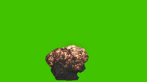A huge explosion with thick black smoke. An explosion with thick smoke, a bomb explosion, real 動畫