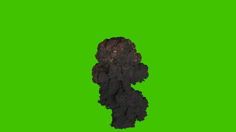 Fuel explosion with thick black smoke. Explosion with black smoke, explosion of explosives. VFX Animation