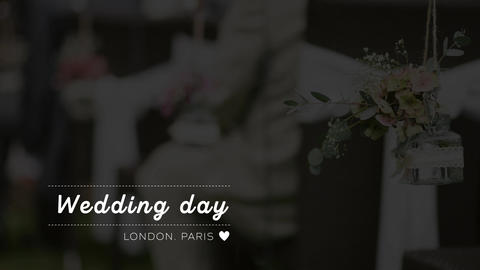 Wedding Lower Thirds Motion Graphics Template