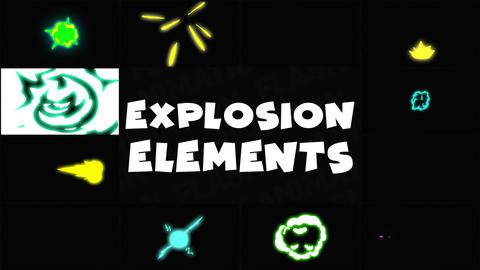 Explosion Elements Apple Motion Template