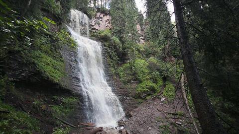 Waterfall Maiden's Tears valley Jets-Oguz. Issyk Kul, Kyrgyzstan Footage