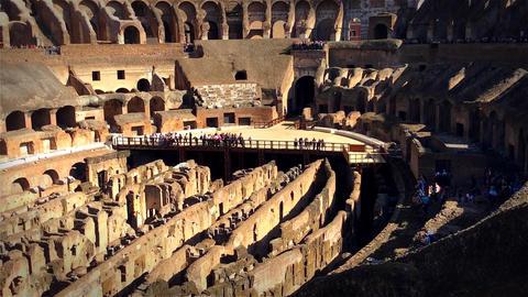 Roman Colosseum Arena Footage