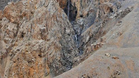 Upper Waterfall Barskoon gorge Footage