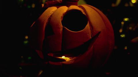 4K Halloween Pupmkin / Jack-O'-Lantern Footage