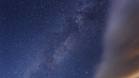 The Milky Way and fast clouds. Time Lapse Footage