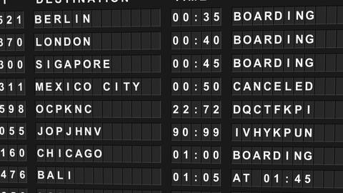 Departure board Animation