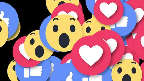 Falling Social Media EMOJI Social Network 4K 3D ライブ動画