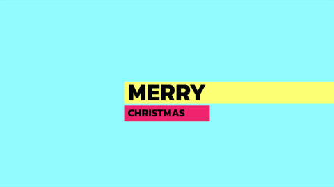Animation intro text Merry Christmas on blue fashion and minimalism background with geometric shape Animation