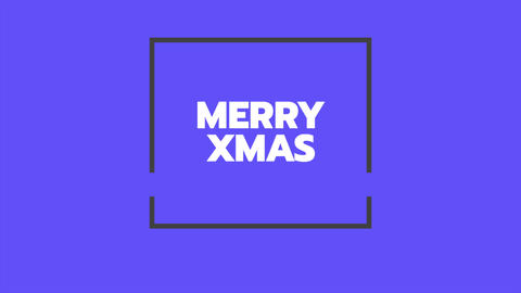 Animation intro text Merry Xmas on blue fashion and minimalism background with geometric lines Animation