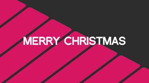 Animation intro text Merry Christmas on black fashion and minimalism background with geometric lines Animation