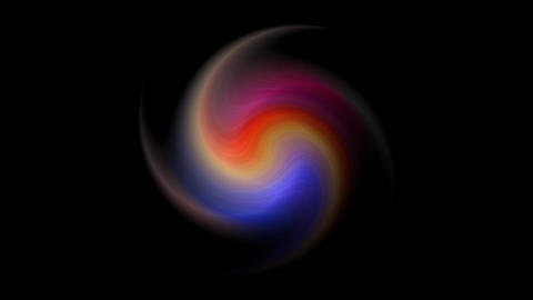 Multicolored star in spiral rotates with colors motion. Lines flies and colored stars glow Live Action