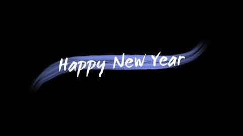 Animation intro text Happy New Year on green fashion and brush background Animation