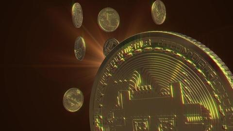 Bitcoin money loop animation Animation