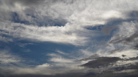 Time Lapse of beautiful blue sky with a clouds, nature background. Sky with clouds Live Action