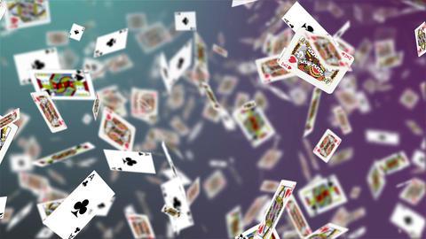 Casino, Animated Background Falling Cards Animation