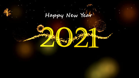 New year celebrations motion graphics with night background 動畫