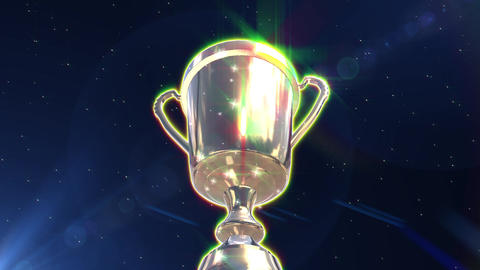 Trophy cup gold loop animation Animation