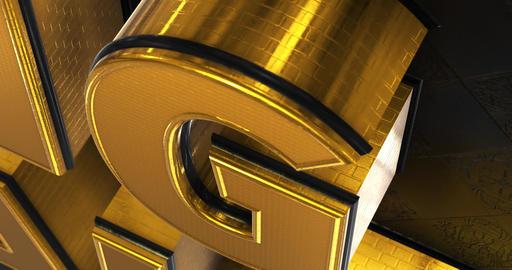 Big Sale. Promotion Intro. Gold Text Logo Animation