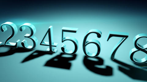 Numerology (secret knowledge about the numbers). The numbers are in a row (0123456789) Animation