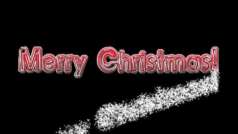 Merry Christmas on black BG font 2 Animation