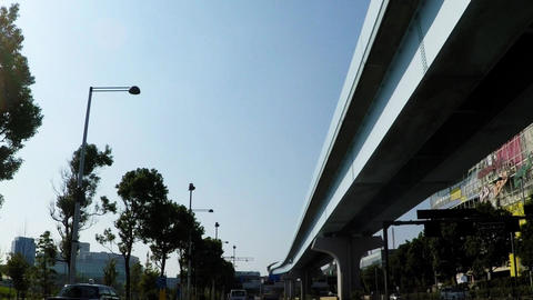 Tokyo urban landscape, the road around the Tokyo sub-central leisure spot Footage