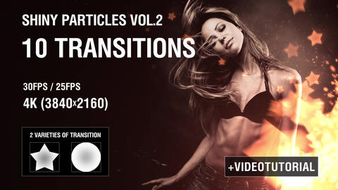 4K Shiny Particles Transition vol.2 After Effectsテンプレート