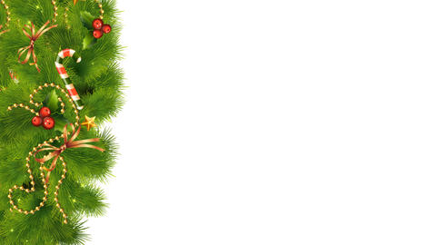 Christmas Decorations On Transparent Background 02 Animation