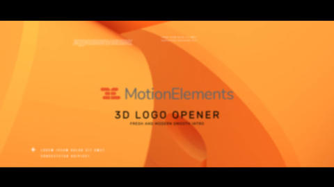 3d Logo Opener After Effects Template